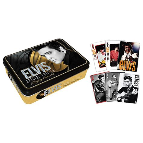 Musicians Friend Gift Card - hal leonard elvis presley playing cards 2 deck set gift tin musician s friend