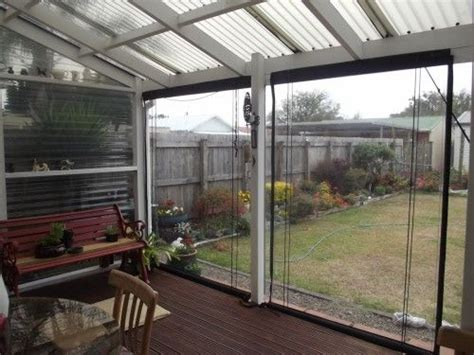 How To Inclose A Patio by New Semi Enclosed Deck Using Pvc Blinds House And