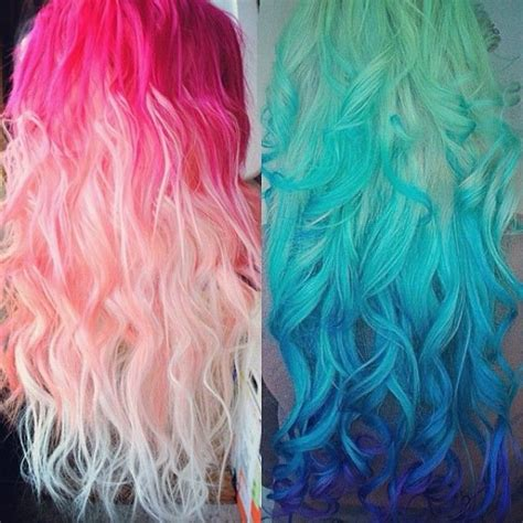 bright color hair dye pastel and bright hair colors inspirations from