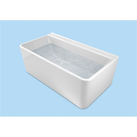 bathtub melbourne cube1600 back to wall freestanding bath bunnings warehouse