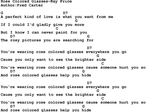 colored glasses lyrics country colored glasses price lyrics and chords