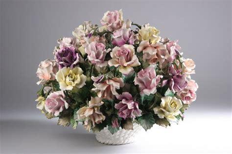 large capodimonte porcelain floral centerpiece 1522169