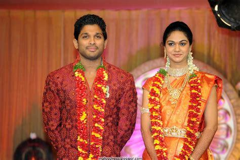 allu arjun wedding images malayalam allu arjun wedding reception photo gallery
