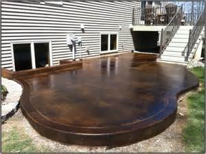 Old Concrete Patio Ideas by Staining Old Concrete Patio Patios Home Design Ideas