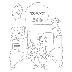 zoo map coloring page 89 coloring page animals zoo zoo coloring pages 10