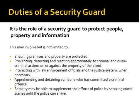 Security Guard Duties by Security Guard Resume 1 Work Duties Exle Sle Safety Checks Aid Patrols Visitors