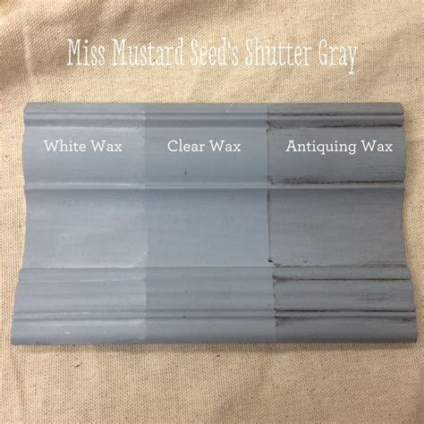 furniture wax over white paint miss mustard seed s milk paint shutter gray with antiquing