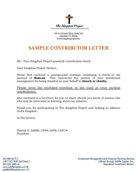 church letter template sle church letters best letter sle