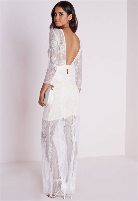 White Lace Sleeved Dress sleeve white lace maxi dress oasis fashion