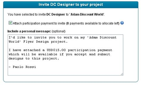designcrowd cost can i invite designers to my project designcrowd