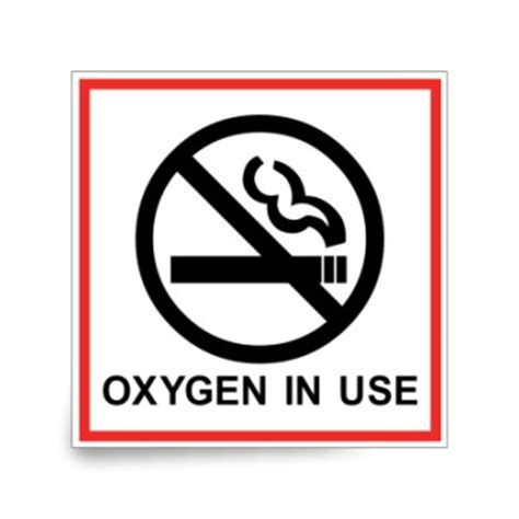 no smoking sign oxygen in use no smoking oxygen in use