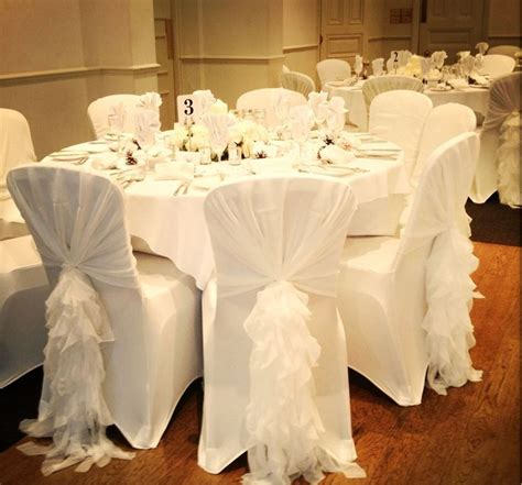 white table covers weddings the 25 best wedding chair covers ideas on