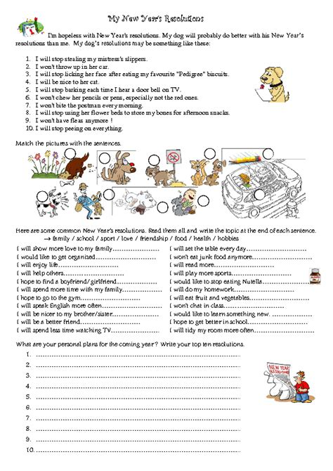 new year activities for esl students 67 free new year worksheets