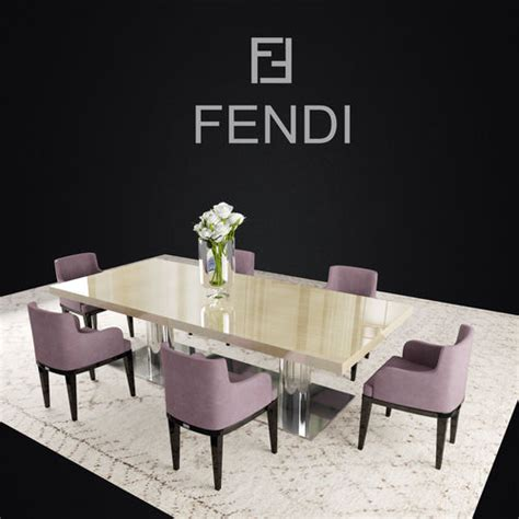 fendi casa dining table fendi casa dining 3d model max fbx cgtrader com