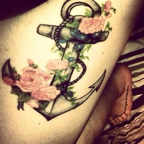 anchor flower tattoo anchor with flowers my next but a