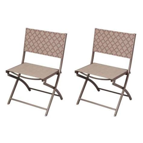 folding patio chairs home depot hton bay fairplay folding sling patio chair 2 pack