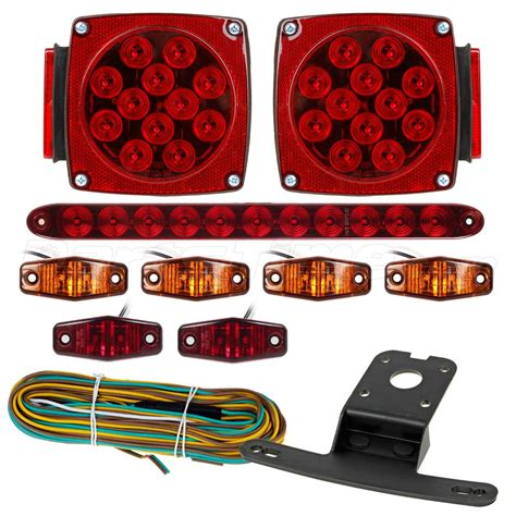 boat trailer clearance lights under 80 quot led boat trailer light kits stop turn tail side
