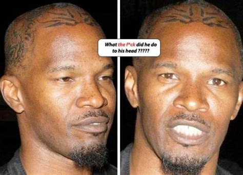 jamie foxx head tattoos photos link entertainment rundown