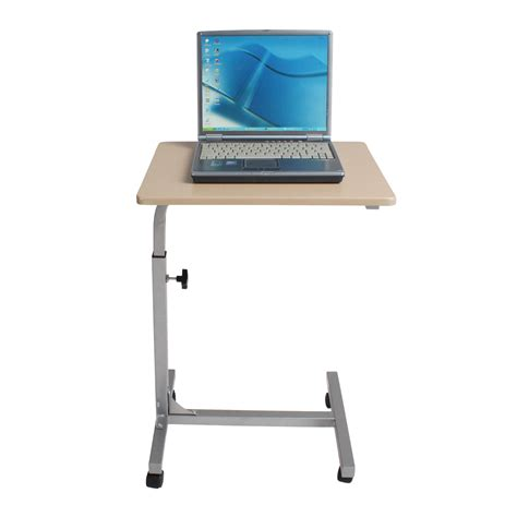 rolling laptop desk adjustable height adjustable rolling laptop notebook desk bed