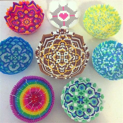 perler bead bowl 1000 ideas about bead bowl on melted