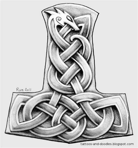mjolnir tattoo tattoos and doodles mj 246 lnir