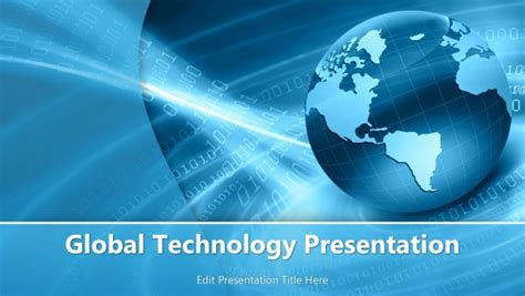 Global Technology Powerpoint Template Powerpoint Templates Global Powerpoint Template