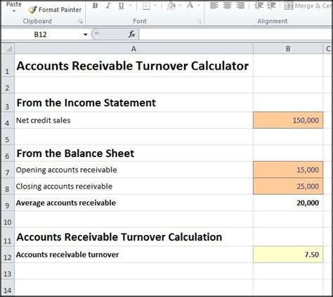 Credit Turnover Formula Accounts Receivable Turnover Calculator Entry Bookkeeping