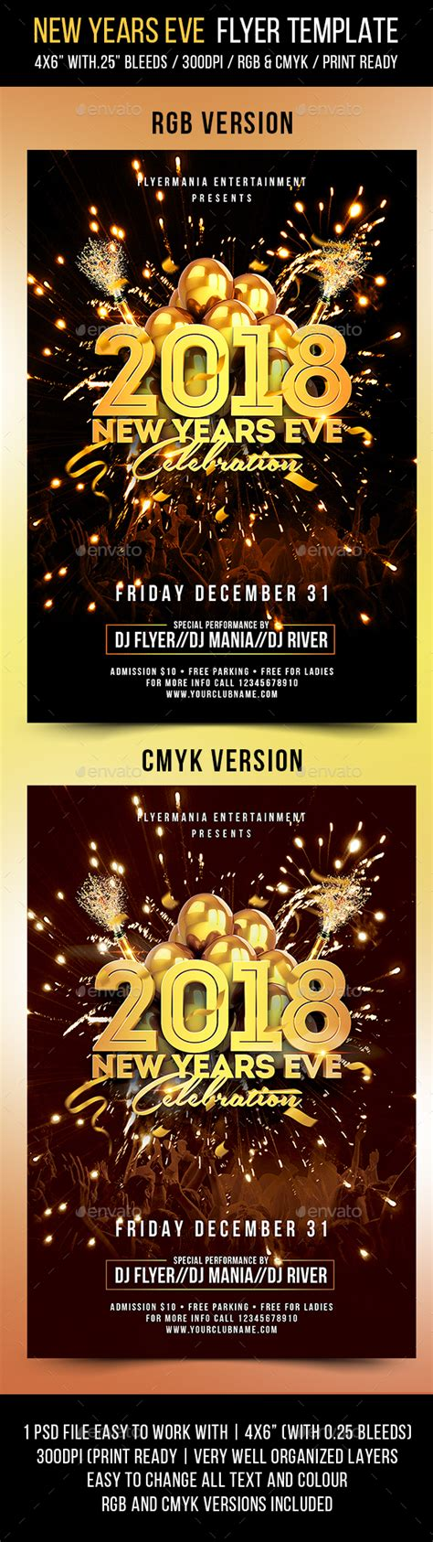 New Years Eve Flyer Template By Flyermania Graphicriver New Years Flyer Template