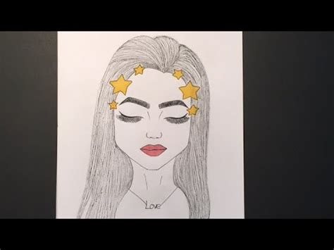 draw  snapchat filter girl  youtube