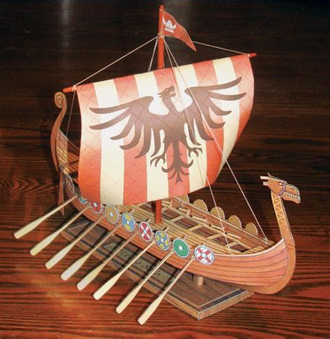 Viking Papercraft - paper model of the fiddlersgreen viking ship