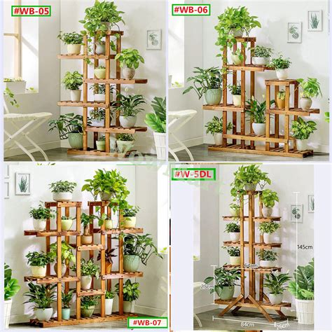 indoor garden wooden plant stand planter flower pot
