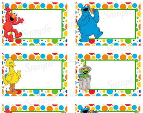 Free Printable Elmo Name Tags | elmo name tags etsy