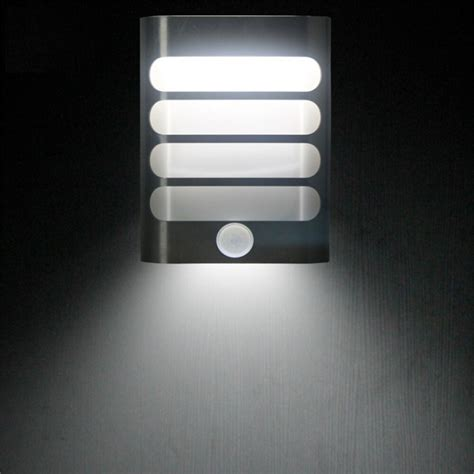 battery operated led wall light sensor metal