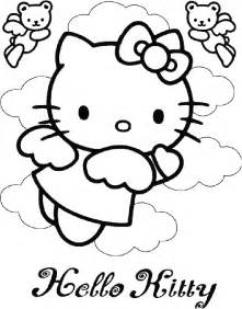 kitty angel coloring pages coloring