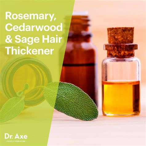 Recipes For Hair Thickeners | rosemary cedarwood sage hair thickener recipe