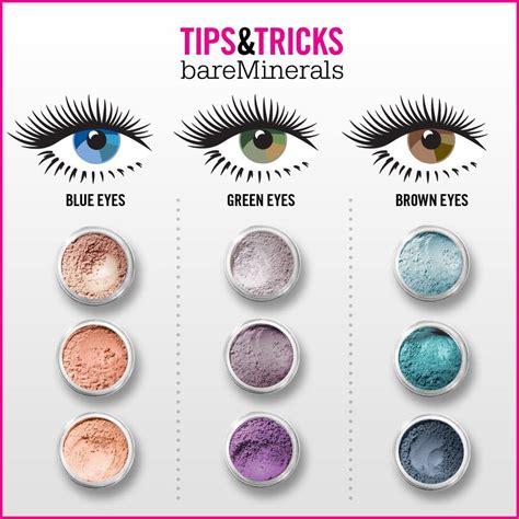 eyeshadow colors bareminerals eye shadow eye color chart hair make up
