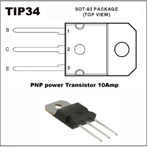 transistor pnp power order now 3 x tip34a pnp silicon power transiators 10 pack of 3 transistors resistor