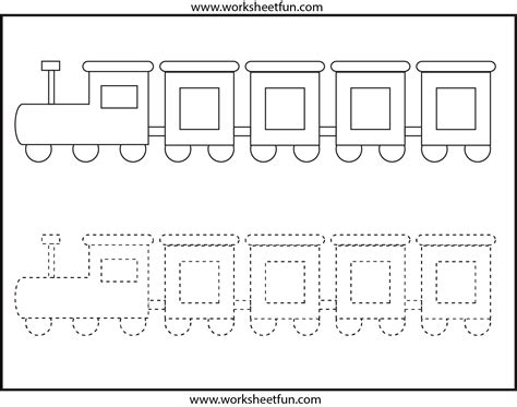 printable preschool train activities picture tracing train 1 worksheet free printable