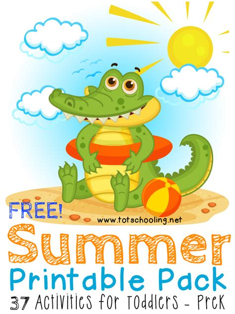 Printable Preschool Summer Activities | free summer printable pack for toddlers prek