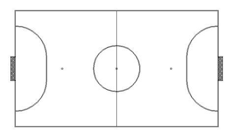 pista futbol sala descarga gratuita del bloque autocad deportes pista de