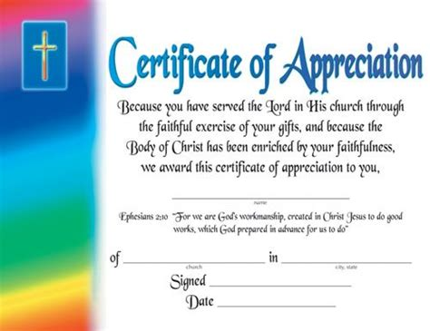 certificate of appreciation religious certificate of