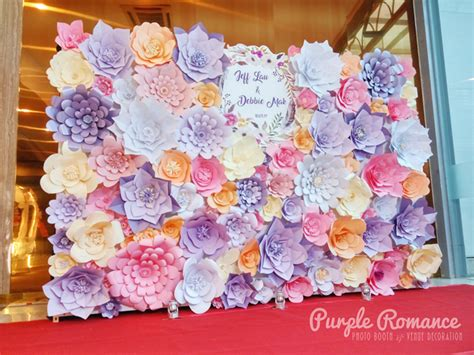 Wedding Backdrop Malaysia by Paper Flowers Backdrop At Unique Seafood Restaurant