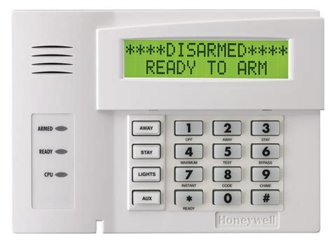 honeywell 6164us alphanumeric alarm keypad with four