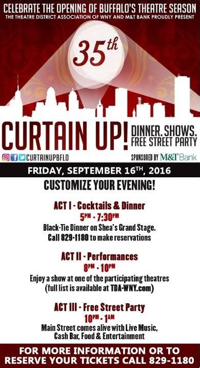 curtain up buffalo 2016 curtain up theater season opening september 16