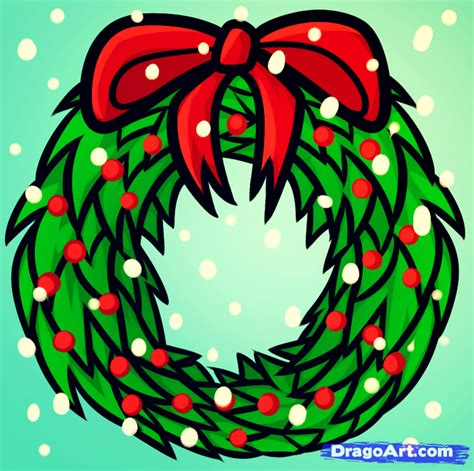 pictures of christmas stuff how to draw a christmas wreath step by step christmas