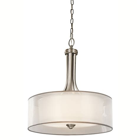 Kichler Light Kichler Lighting 42385ap 4 Light Inverted Pendant Antique Pewter With Cased Opal Inner