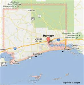 harrison county mississippi color map