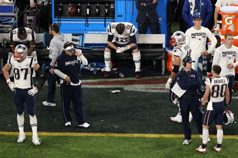 tom brady benched here are some very satisfying photos of tom brady looking sad