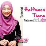 tutorial halfmoon qaira hijab tutorial hijab terkini selendang moden chiffon