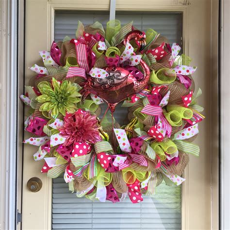 How To Make A Deco Mesh Garland For Front Door